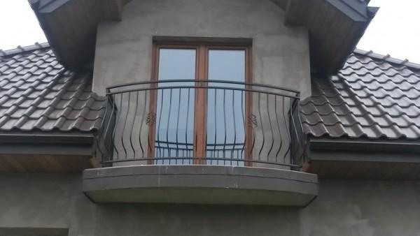 Balustrada balkonowa lukowa