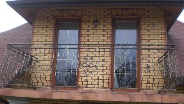 Balustrada balkonowa Patynowana na Złoto